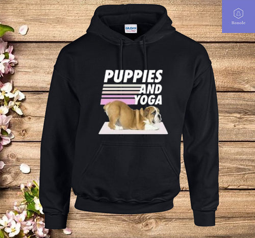 Puppies And Yoga Hoodie