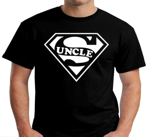 SUPER UNCLE Funny Fathers Day Birthday Niece Nephew Gift Tee T Shirt