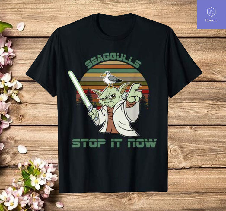 Seagulls bird lover stop it now funny seagulls T-shirt
