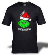 Load image into Gallery viewer, The Grinch I Hate Christmas Festive T-shirt