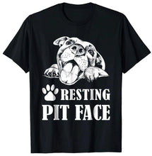 Load image into Gallery viewer, Trends Funny Dog Pitbull Resting Pit Face T-Shirt