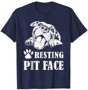 Trends Funny Dog Pitbull Resting Pit Face T-Shirt