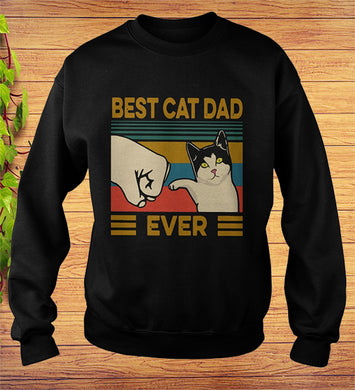 Vintage Best Cat Dad Ever Sweatshirt