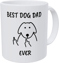 Load image into Gallery viewer, Wampumtuk Flipping Fingers Best Dog Dad Ever Funny Coffee Mug