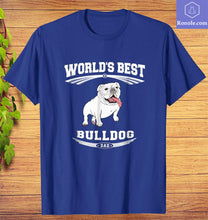 Load image into Gallery viewer, World's Best Bulldog Dog Dad Owner T-Shirt