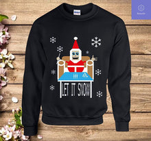 Load image into Gallery viewer, Let It Snow Christmas Sweater Comic Sweatshirt