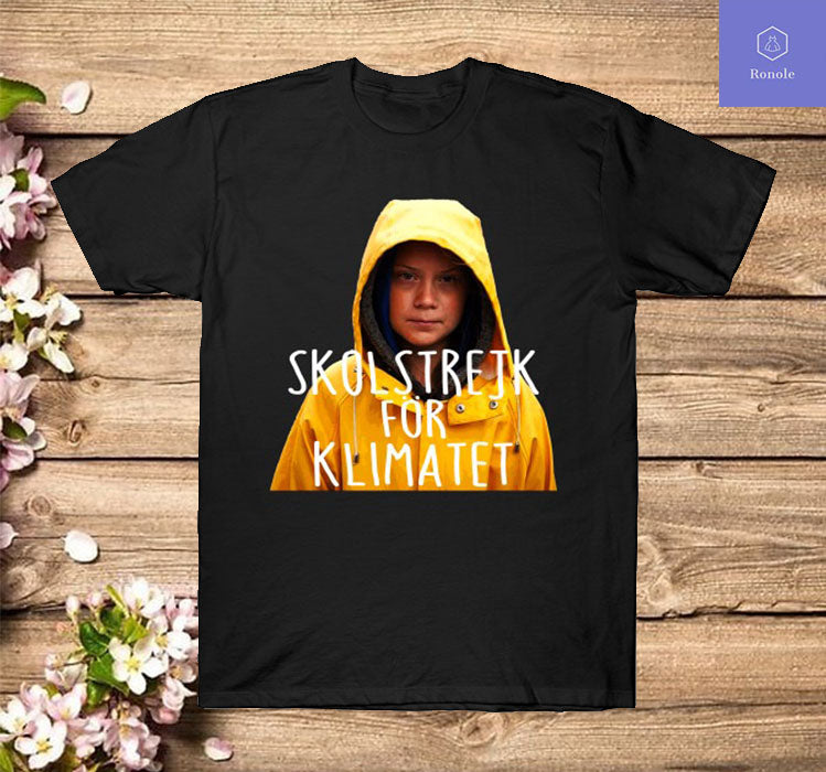 Skolstrejk For Klimatet Greta Thunberg T Shirt