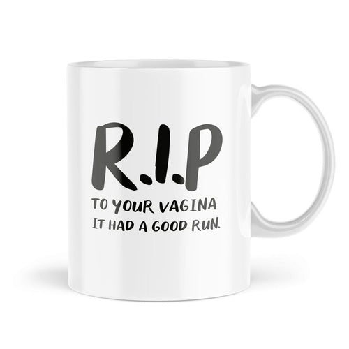 Leaving-Work Congratulations Pregnant R.I.P Vagina Coffee Mug