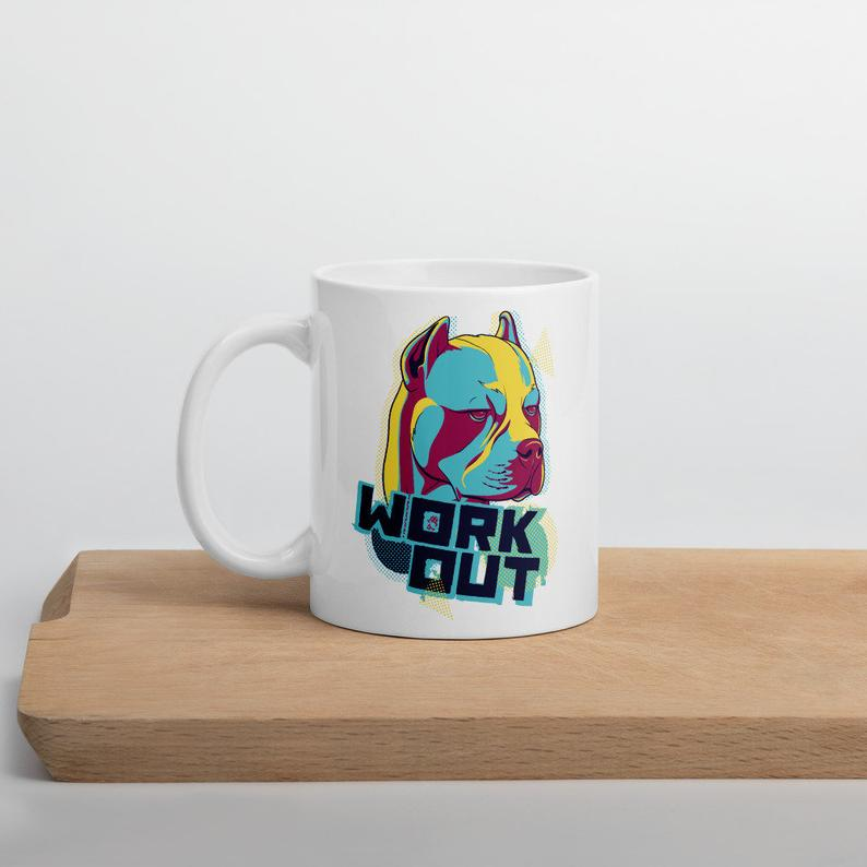 Work-out Dog Coffee Mug