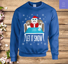 Load image into Gallery viewer, Cocaine Santa Let It Snow Christmas Sweater Sweatshirt