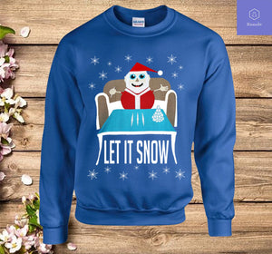 Cocaine Santa Let It Snow Christmas Sweater Sweatshirt