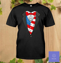 Load image into Gallery viewer, Tuxedo American Flag Costume Classic T-Shirt