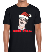 Load image into Gallery viewer, Shalom to You All Christmas T-Shirt Tee Friday Night Funny