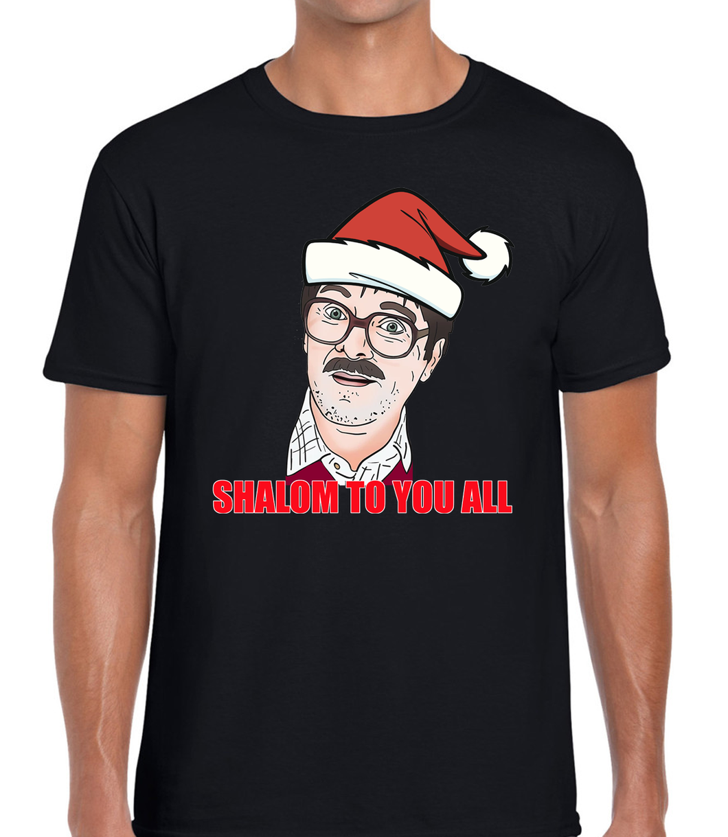 Shalom to You All Christmas T-Shirt Tee Friday Night Funny