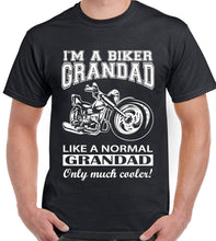 Load image into Gallery viewer, Biker Grandad T-shirt Mens Funny Motorbike I'm a Mens Father's Day Birthday Bike