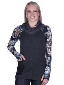 Print Sleeved Tunic No Hood