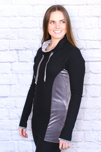 Very Velvet Funnel Neck Tunic