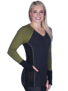 Tri-Color V Neck Tunic
