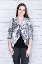 Load image into Gallery viewer, Cropped Flouncing Print Mesh Cardigan