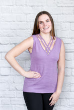 Load image into Gallery viewer, Strappy V Neck Tank Top