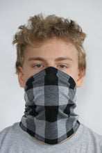 Load image into Gallery viewer, ComfyFace Gaiter - Men's L Gray Black Check