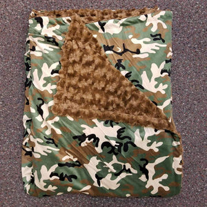 Camo/Brown Rose Blanket 60x80 inches
