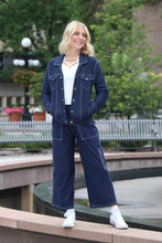 Load image into Gallery viewer, Stretch Denim Cargo Capri