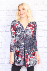 3/4 Sleeve Twist Tunic