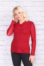 Load image into Gallery viewer, Cowl Neck Long Sleeve