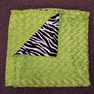 Plush Blankets w/ Black and White Zebra Fleece