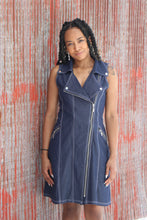 Load image into Gallery viewer, Denim Moto Dress