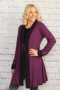 Sophisticated Ruffled Cardigan