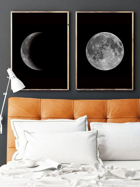 Home Decorating Ideas Bedroom Custom Moon Wall Art
