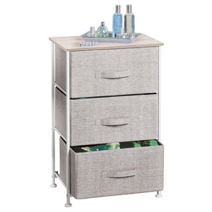 Organize with interdesign aldo fabric 3 drawer dresser and storage organizer unit for bedroom dorm room apartment small living spaces linen
