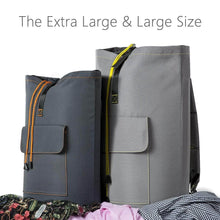 Load image into Gallery viewer, Best wowlive extra large laundry bag laundry backpack hanging laundry hamper adjustable shoulder straps camping bag waterproof durable travel collage apartment dorm sports dark grey