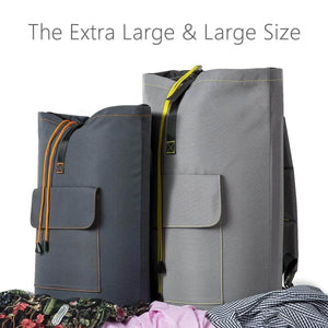 Best wowlive extra large laundry bag laundry backpack hanging laundry hamper adjustable shoulder straps camping bag waterproof durable travel collage apartment dorm sports dark grey