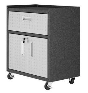Manhattan Comfort Fortress Mobile Cabinet with Drawer and Shelves