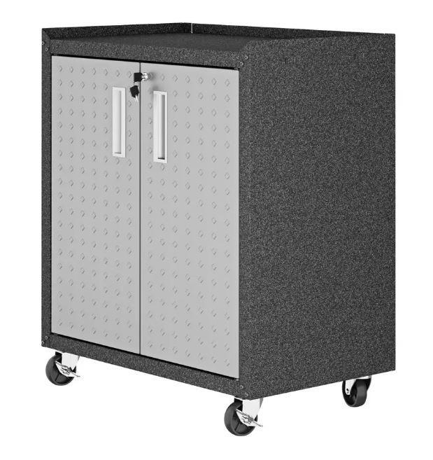 Manhattan Comfort Fortress Mobile Cabinet with Shelves