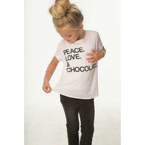 Peace, Love & Chocolate Tee