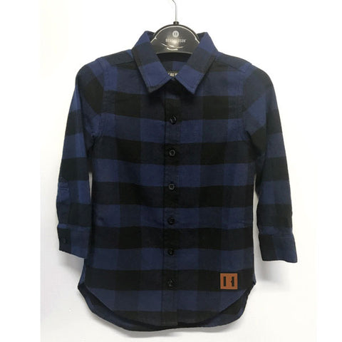 Blue and Black Oversized Buffalo Shirt