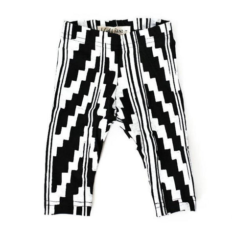 Organic Black & White Southwest Legging