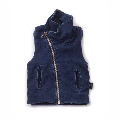 Denim Terry Vest