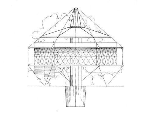 Dymaxion House Drawing