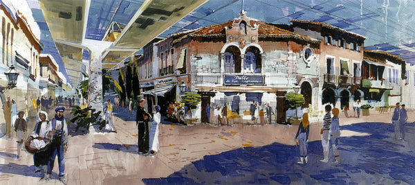 "Concept for the ""Spanish District"" of EPCOT's International Shopping Center"