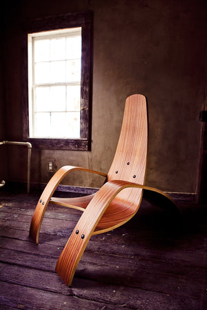 Ciseal Custom Bent Plywood Lounge Chair