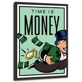 ''Time is Money'' Canvas
