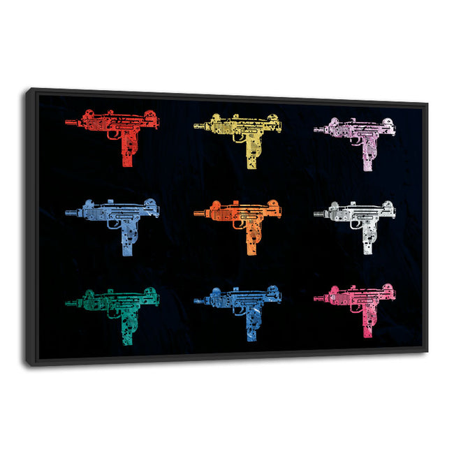 ''Uzi Pallette'' Canvas