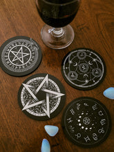 Load image into Gallery viewer, Pentagram Coaster Set - Kate's Clothing