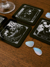 Load image into Gallery viewer, Deadly Tarot Coaster Set - Kate's Clothing