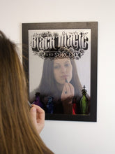 Load image into Gallery viewer, Framed Mirrored Tin Sign - Black Magic And Sorcery - Kate's Clothing